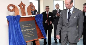 Duke of Kent unveiling plaque