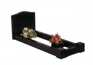 Black granite memorials