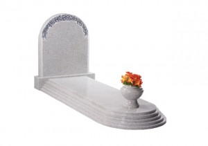Warwick Grey granite memorial with tiered cover slab