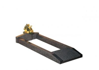 Lunar Grey granite full kerb set with vase