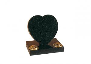 Heart headstone with twin flower holders