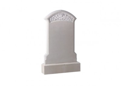 Sandstone headstone with hand carved rose design