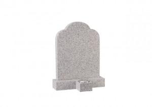 Cornish granite headstone with separate vase in front