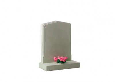 Forest of dean stone headstone with moulded profile around the edge