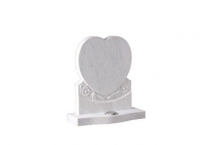 Nabresina Stone headstone with carved roses