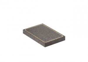 Dark Grey granite tablet with gilded scalloped pin line