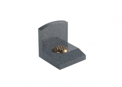 Dark Grey granite memorial with flower holder
