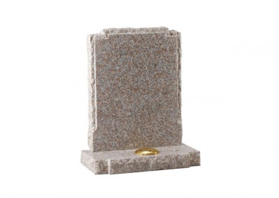Autumn brown granite with pitched side and check shaped shoulders