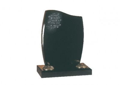 Black granite memorial with 'Morning's First Light' poem with Swarovski Crystals