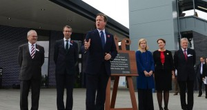 David Cameron unveiling plaque