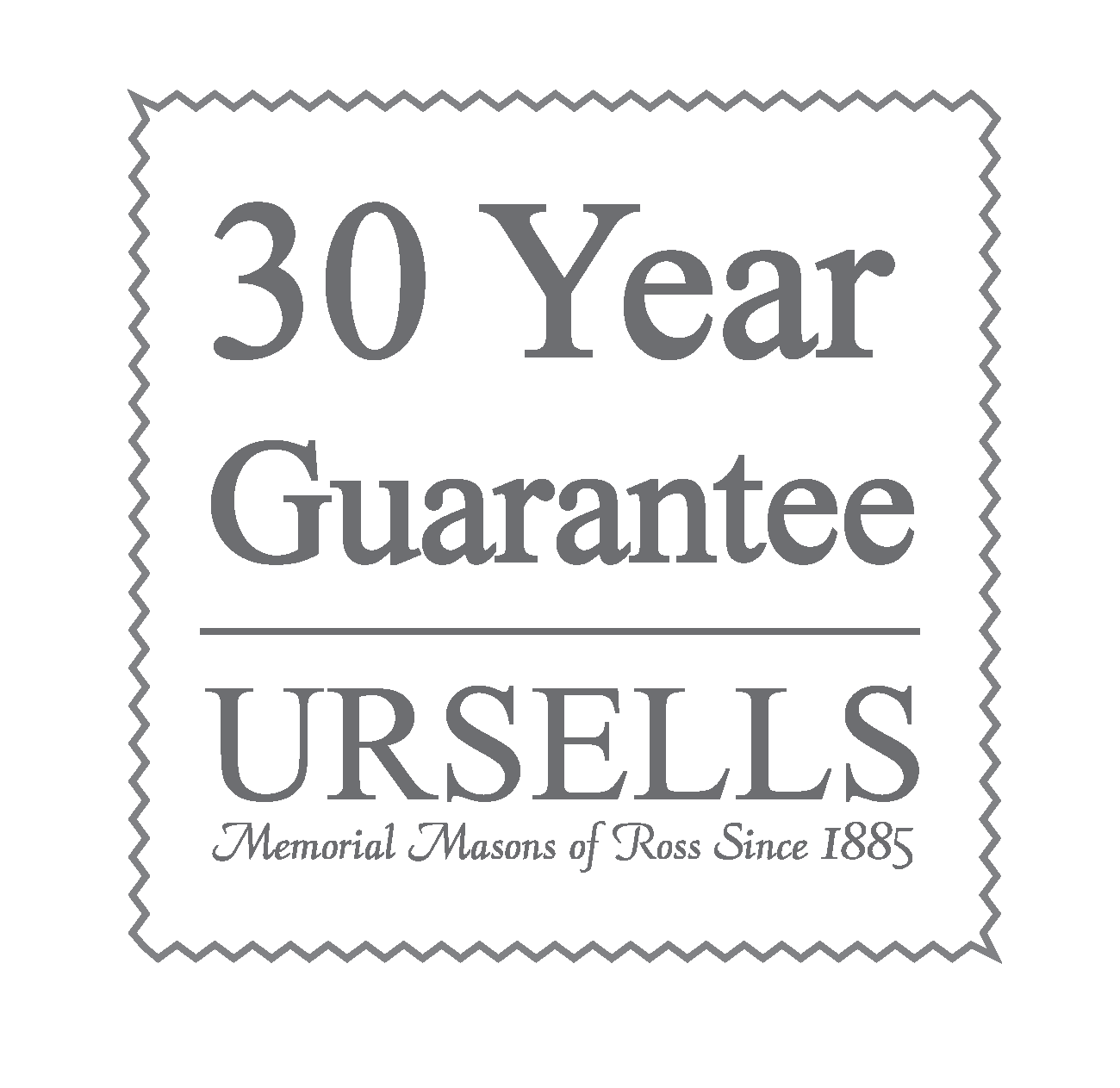 Ursells 30 Year Guarantee Logo